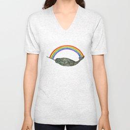 Silly Narwhale Rainbow Unisex V-Neck