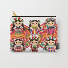 Mexican Dolls Carry-All Pouch