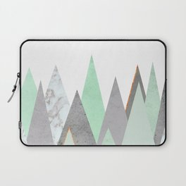 MINT COPPER MARBLE GRAY GEOMETRIC MOUNTAINS Laptop Sleeve