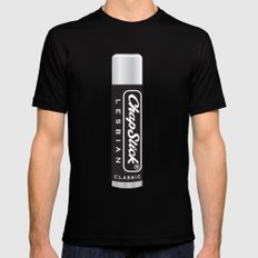 CHAPSTICK LESBIAN SMALL Black Mens Fitted Tee