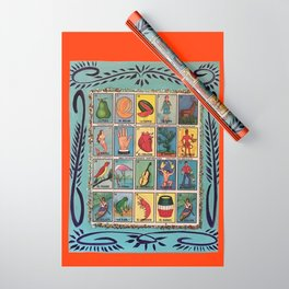 Mexican Bingo Loteria Wrapping Paper