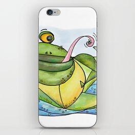 Frog with curls – Lockenfrosch iPhone Skin