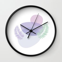 Little pebbles and tropical leaf planet #society6 #minimalart #abstractart Wall Clock