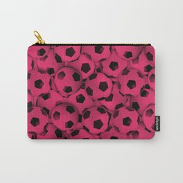 Field of Pink Soccer Balls Carry-All Pouch