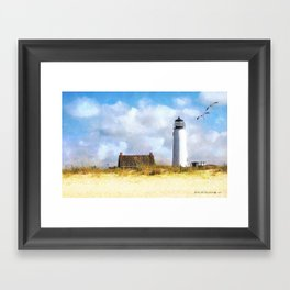 St. George Island Lighthouse Framed Art Print