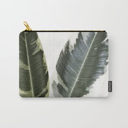variegated rubber plant 01 Carry-All Pouch