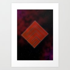 Diamond Galaxy Art Print