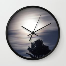 Full moon and clouds Wall Clock