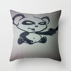 Panda With Attitude Throw Pillow