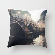 Evening Bridge Throw Pillow