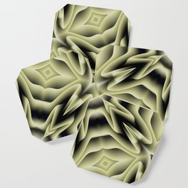 Spikes: abstract digital pattern Coaster