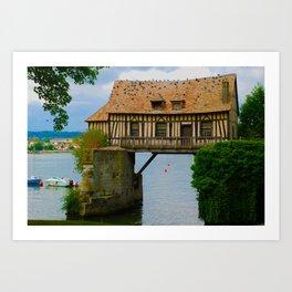 The Old Mill Vernon France Travel Art Print
