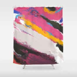 Abstract Holi Shower Curtain