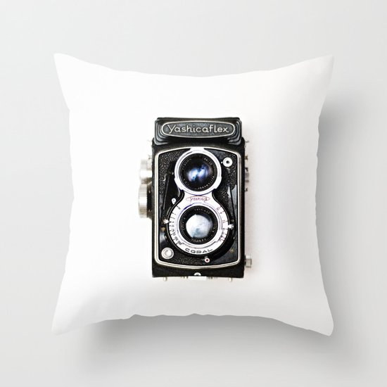 Yashica Retro Vintage Camera Throw Pillow