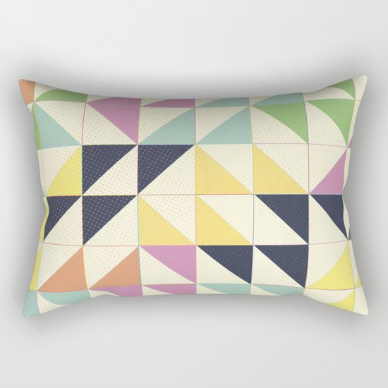 Triangles and Squares III Rectangular Pillow