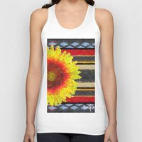 blanket Tank Tops featuring Indian Blanket by Jim Pavelle