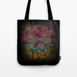 Flower Sugar Skull Tote Bag