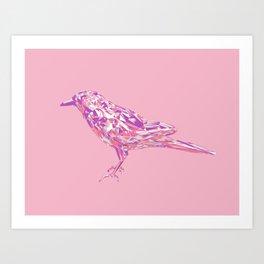 Pink Crow Art Print