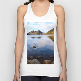 Peaceful Jordan Pond Unisex Tank Top