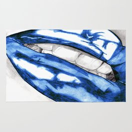 Hot Lips Blue Rug