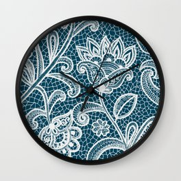 Lace on Paper Wall Clock