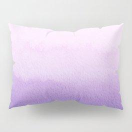 Purple watercolor texture Pillow Sham