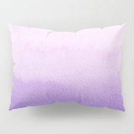 Purple Watercolor Design Pillow Sham