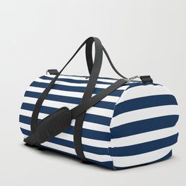Navy-White ( Stripe Collection ) Duffle Bag