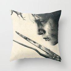 Edward Scissorhands ~ Johnny Depp Traditional Portrait Print Throw Pillow