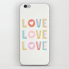 Love x3 iPhone & iPod Skin