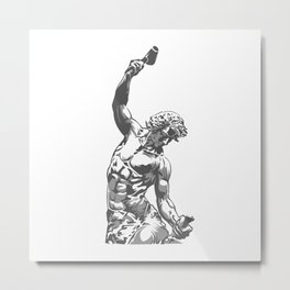 Self-Made Men statue Metal Print
