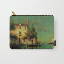 Gondolier à Venise - Venice, Italy landscape painting by Antonie Bouvard Carry-All Pouch