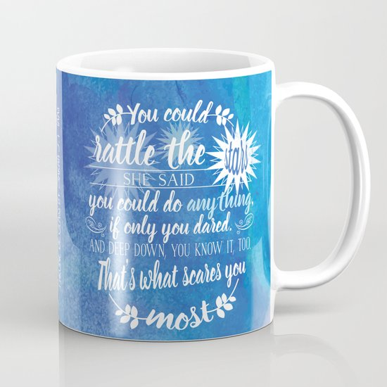Throne of Glass by Sarah J. Maas Book Quote - Rattle The Stars Coffee Mug