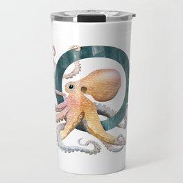 O is for Octopus - Letter O Monogram Travel Mug