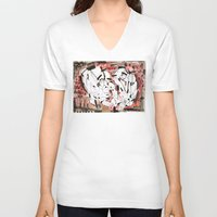 friendship V-neck T-shirts featuring Friendship by 5wingerone
