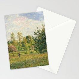 """Camille Pissarro """"Le pré à Éragny, été, soleil, fin d'après-midi"""" Stationery Cards"""