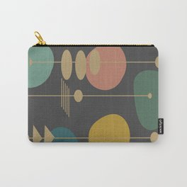 Mid Century Modern Atomic in Grey Carry-All Pouch
