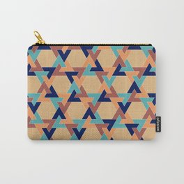 Geometric pattern 1977 Carry-All Pouch