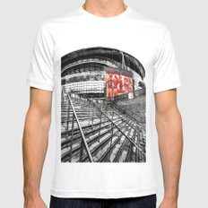 Arsenal FC Emirates Stadium London Art Mens Fitted Tee MEDIUM White