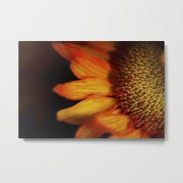 Flaming Sunflower Metal Print