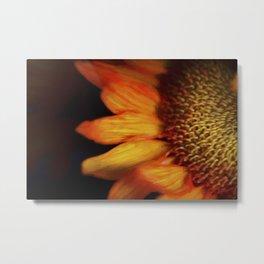 Flaming Sunflower Metal Print