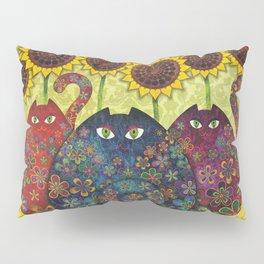 Cats & Sunflowers Pillow Sham