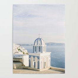 Pastel Blue Church Poster