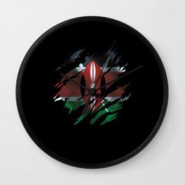Kenya Flag Wall Clock
