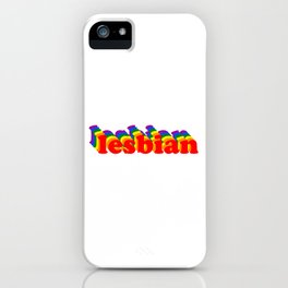 LESBIAN STYLE PRIDE iPhone Case
