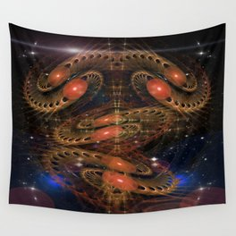 Sacred Spaces Optical Illusion Abstract Wall Tapestry