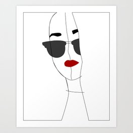 White self portrait Art Print