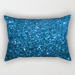 Sparkling Blue Glitter Rectangular Pillow