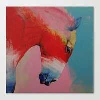 horse Canvas Prints featuring Horse by Michael Creese