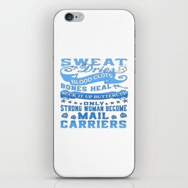 Mail Carrier Woman iPhone Skin